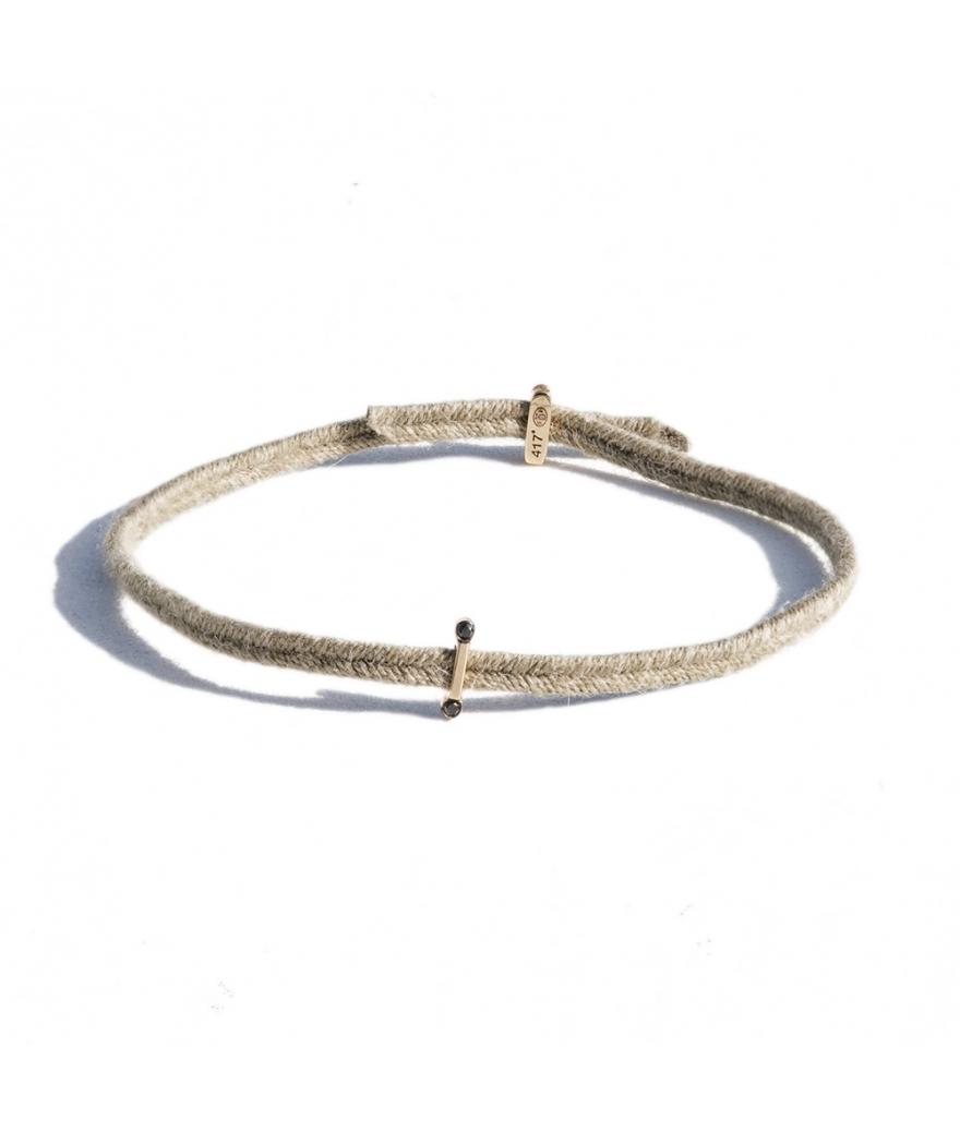 Bracelet charnière Sygma 2 diamants noirs 0,014 carats