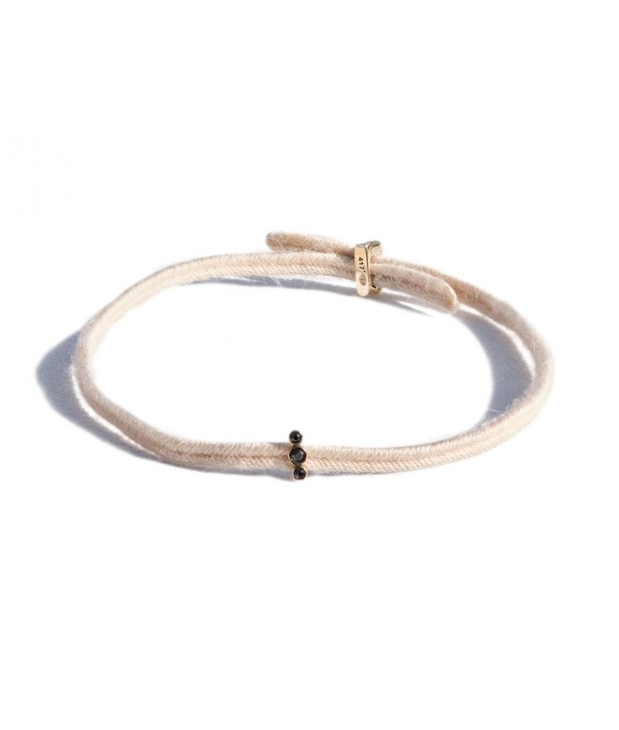 Bracelet Charnière Sygma diamants noirs
