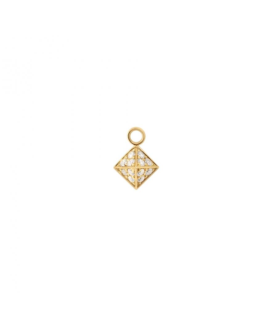 Pendentif Pyramide diamants