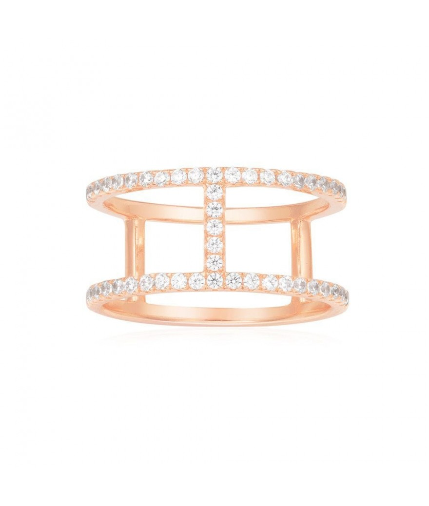 Bague Croisette Simple Rose