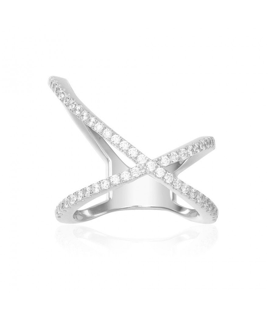 Bague Croisette X-Shaped...