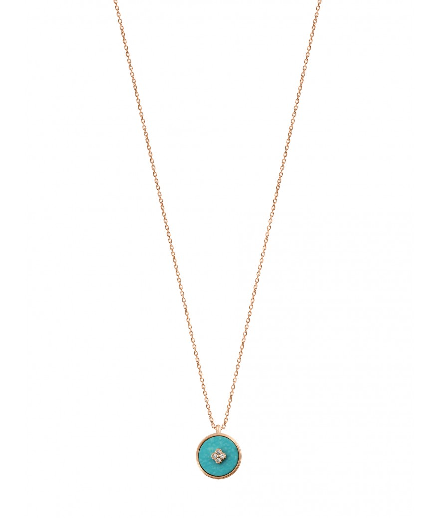 Pendentif Pastille Turquoise
