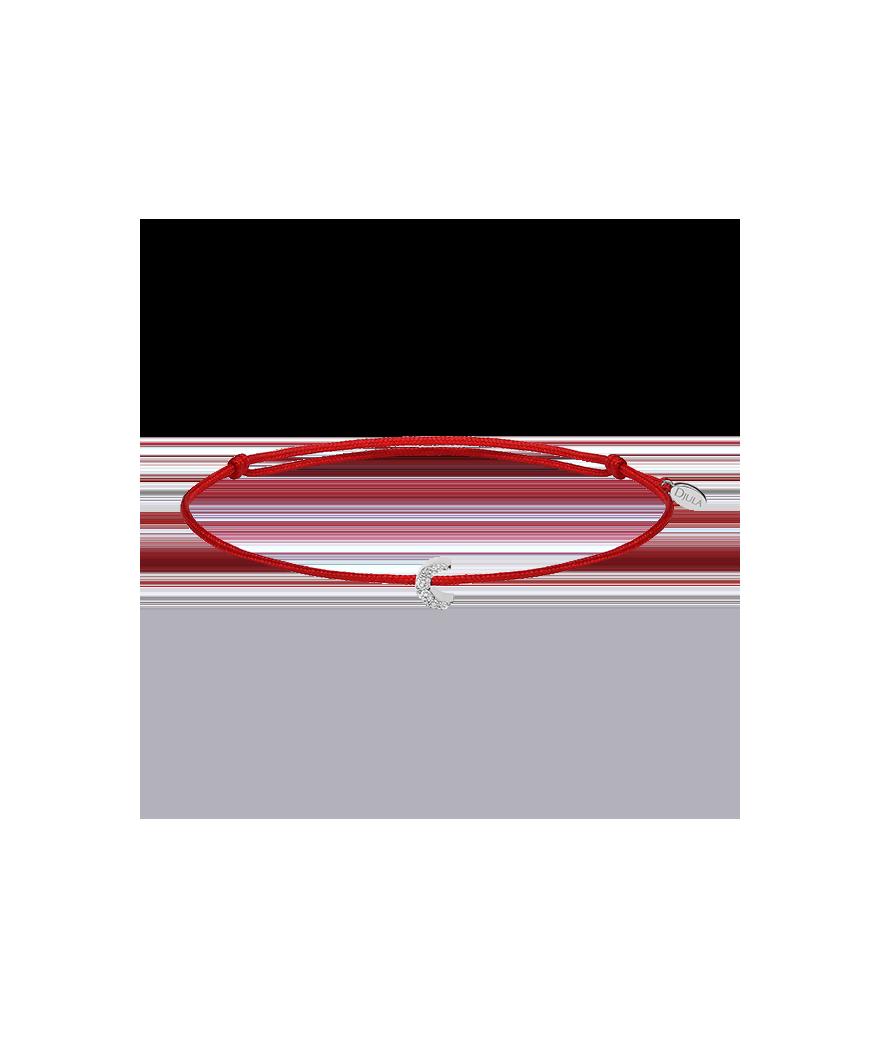 Bracelet Mini Lune Sur Cordon